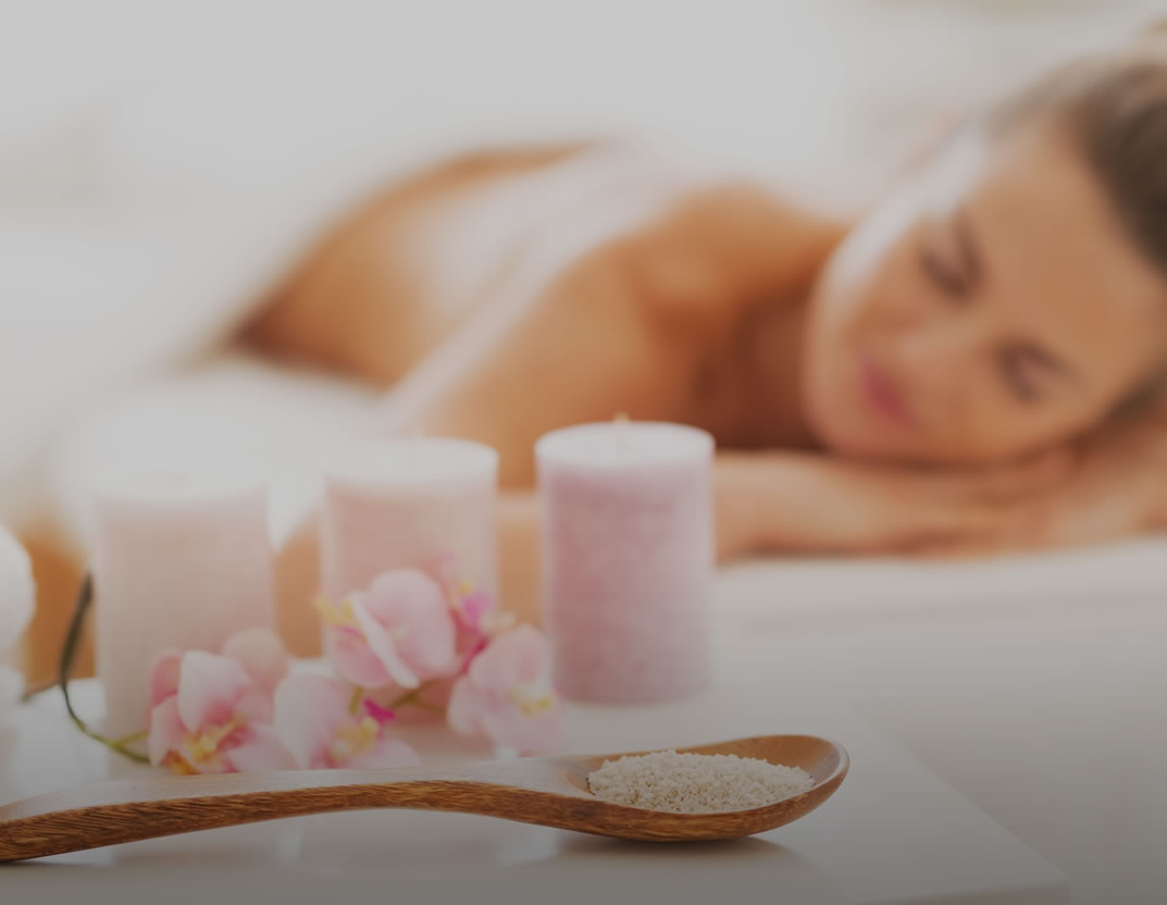 spa orchids and massage