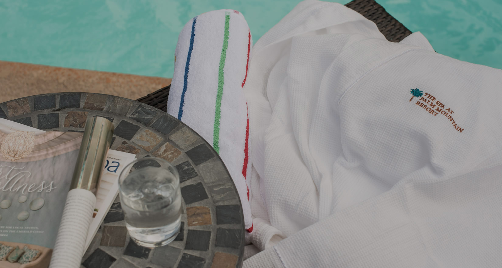Palm Mountain poolside drinks